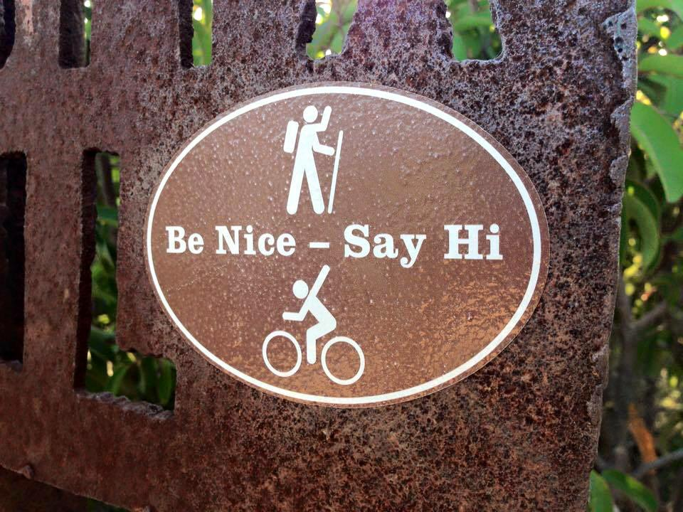 Be nice Say Hi
