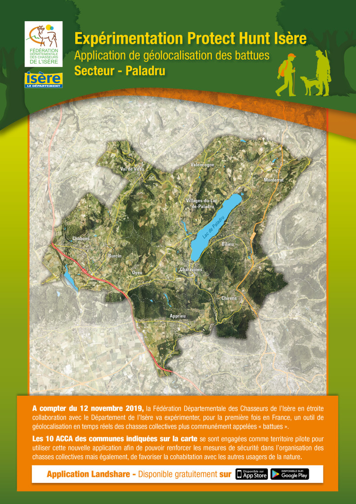 Carte Chasse - Protect Hunt - Secteur Paladru